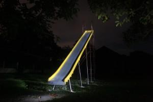 Slide at night